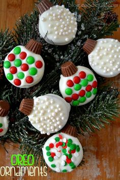 Oreo cookie ornaments