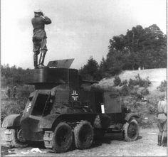 Советский бронеавтомобиль БА-3 на службе в Вермахте