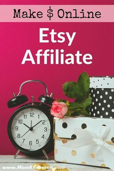 Make money at home - become an Etsy affiliate! Affiliate marketing is an awesome…