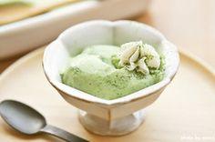 とろとろ抹茶プリン - matcha pudding with fresh cream