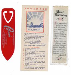 As you can imagine, I come across a lot of plain old bookmarks when sorting through books. Here are some I've found in the last week or so.