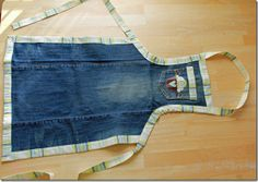 I must make this apron!  Thankfully I saved a pair of old jeans