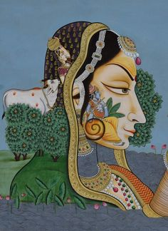 Krishna with Gopis – Artisera Pichwai Paintings, Indian Art Paintings, Krishna Painting, Krishna Art, Indian Folk Art, Indian Artist, Spiritual Paintings, Peacock Painting, Lord Krishna Images