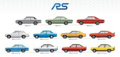 The upcoming Ford Focus RS launch is just the newest RS hotness to grace this planet in the last 40 years. Ford just dropped a handy informational site detailing the history of its performance models, as well as this handy graphic. See it in full after the jump.