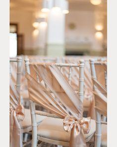 12 Beautifully Draped Fabric Wedding Chair Ideas ~ we ❤ this! moncheribridals.com