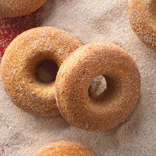 Pumpkin Cake Doughnuts: these baked (not fried) doughnuts are moist, have brilliant orange color and delicious pumpkin flavor.