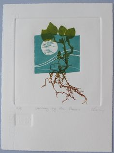 linocut relief print . Lynn Bailey . via etsy