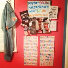 My motivation wall :) 100 day challenge Motivation Boards, Motivation Wall, Health Motivation, Workout Motivation, 100 Day Challenge, Diet Programs, Poem Quotes, 100th Day, Weight Loss Tips