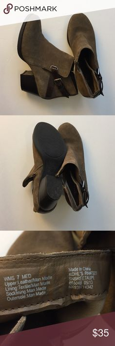 "FINAL PRICE Authentic suede ankle boots FINAL PRICE Sonoma lifestyle authentic leather ankle boots. Heel size is approx. 2.5"". Used twice (seriously). The back of the right shoe has a little scratch. Not very obvious. Excellent like new condition. Shoes Ankle Boots & Booties"