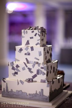 Take the Cake Chicago wedding baker from a purple themed Architectural Artifacts destination wedding