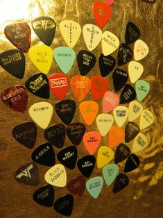 Rare Vintage guitar picks..Artist and Band..some Mega rare