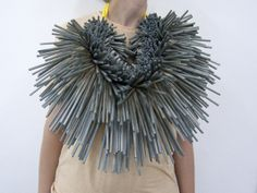 Momotaro Series - Bridget Harvey designs and makes adornments for body and space. Specialising in mixed media and exploring material possibilities, she makes wearable sculptures using mostly hand made multiples.  Her work investigates ideas about time and play in design, making and mending.