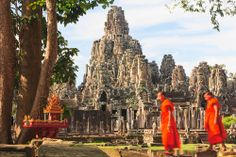 Exploring Cambodia's Angkor Monuments  The Hindu temple of Angkor Wat, a 200-acre sandstone monument, is the headliner in an archaeologica...