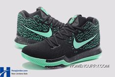1376e713ade Nike Kyrie 3 Green Black PE Men s Basketball Shoes Cheap To Buy