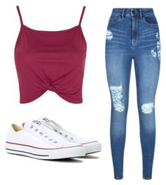 """Untitled #102"" by ana-silva-monteiro ❤ liked on Polyvore featuring Topshop, Lipsy and Converse"