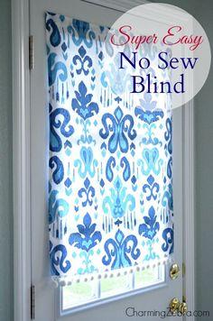 No-Sew Magnetic Blind Tutorial | Charming Zebra on Remodelaholic.com #AllThingsWindows #no-sew                                                                                                                                                                                 Más