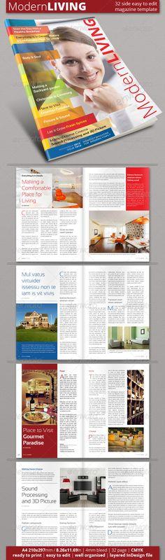 #Multipurpose Magazine Template (Vol. 2) - #Magazines Print #Templates Download here: https://graphicriver.net/item/multipurpose-magazine-template-vol-2/6086862?ref=alena994