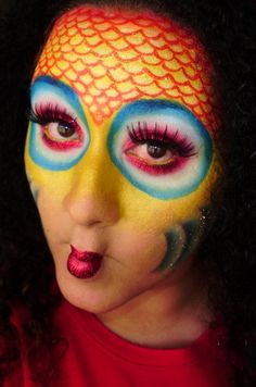 fish eye makeup - like the scales