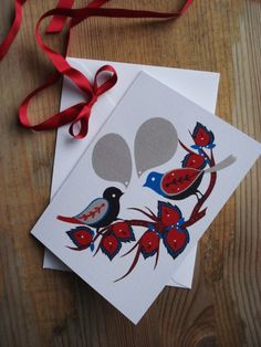 #card #bird #illustration #KarolinSchnoor