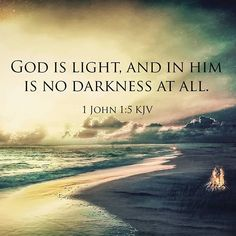 1 John KJV This then is the message which we have heard of him, and declare unto you, that God is light, and in him is no darkness at all. Bible Verses Quotes, Bible Scriptures, Godly Quotes, Scripture Verses, Jesus Is Lord, Jesus Christ, Savior, All That Matters, Gods Grace