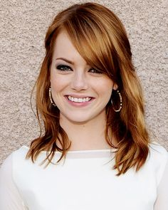dreah- first off, emma stone just makes me think of you and second, this hair color would look amazing on you!