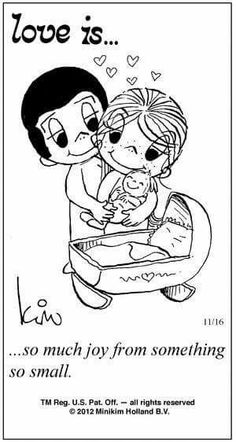 Love is. so much joy from something so small. - Love is. Love Is Comic, Love Is Cartoon, What Is Love, Love You, Baby Quotes, Mommy Quotes, Love Notes, Political Cartoons, Couple