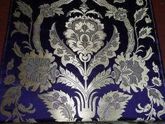 100 Pure Silk Tibetan Brocade Fabric Blue Amp Metallic Gold Colour ...