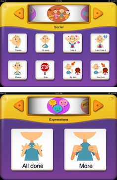 My First AAC is an affordable AAC app for the iPad that is specifically designed for toddlers and preschoolers with delayed speech or severe speech disorders. Good for SLPS to use when evaluating student for AAC