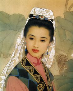 About Art - Talent works, genius creates... : Wang Mei Fang and Zhao Guo Jing - A collection of modern Chinese paintings of women