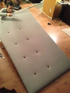 Make your own headboard for only $50....LOVE this!