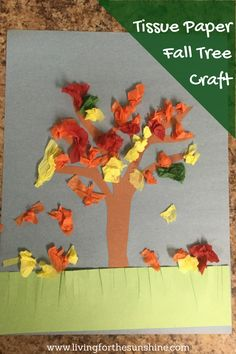 A sweet craft to introduce your toddler to the fall season.