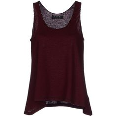 Kristina Ti Vest ($150) ❤ liked on Polyvore featuring tops, tank tops, shirts, maroon and kristina ti