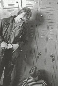 Jeff goofing around in high school