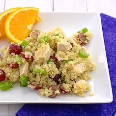 Quinoa Salad with Grapes, Celery, and Chicken makes a healthy and satisfying lunch or dinner.