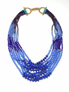 Multi-strand Color-blocked Necklace