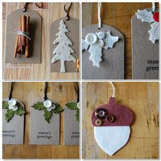 A Nature Inspired Christmas, Rustic Gift Tags by Gabreial Wyatt at Vintage Indie