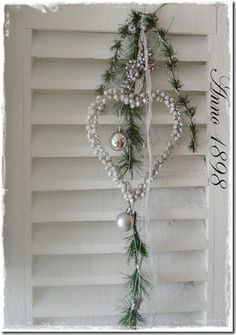Simple and delicate. Must do all my shutters like this ,with a little fancy font and maybe crackle paint them..