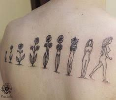We're totally in love with this feminist flower evolution tattoo! Neue Tattoos, Body Art Tattoos, Sleeve Tattoos, Cool Tattoos, Tatoos, Arrow Tattoos, Evolution Tattoo, Piercing Tattoo, Get A Tattoo
