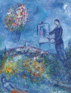 Le peintre - Marc Chagall | Eva's blog; Le peintre - Marc Chagall