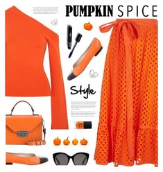 """""""Monochrome: Pumpkin Spice Style"""" by tamara-p ❤ liked on Polyvore featuring Tory Burch, Solace, Chanel, Ganni, Gucci, 3ina and pumpkinspice"""