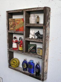 Rustic Wood Shadow Box Shelf made with by ReclaimedTrends on Etsy, $75.71
