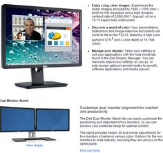 Receive a $100 Dell eGift Card with the purchase of the Dell 22 Dual Monitor Bundle- P2213 with MDS14 with this coupon code. Free shipping! The offer expires 07/08/2015.