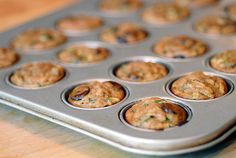 zucchini chocolate chip muffins...Coconut flour. Again would use honey instead of agave.
