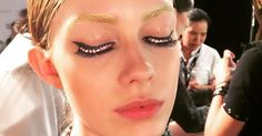 Crystal-Encrusted Eyelashes Sparkle Down the Runway at the Ezra FFWD Show