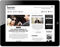 Loonen website by www.formlab.nl