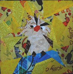 Disney Quilt, Free Paper piecing, Archimedes on the Hat