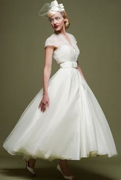 casual afternoon tea length wedding dresses