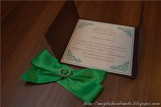 Emerald Wedding Invitation.