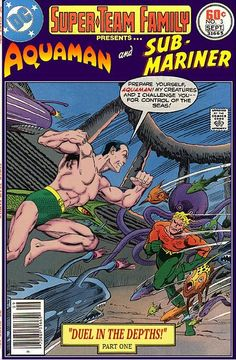 marvel vs dc Super-Team Family: The Lost Issues!: Aquaman and The Sub-Mariner (Part One) Dc Comic Books, Comic Book Covers, Comic Book Heroes, Gi Joe, Looney Tunes, Dc Comics Vs Marvel, Marvel And Dc Crossover, Nightwing And Starfire, Sub Mariner