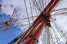 """The legendary four-masted barque """"Sedov"""""""